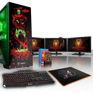 Fierce PC Hård KALKONTUPP Gaming PC, snabb Intel Core i5 7400 3,5 GHz, 2 TB S...