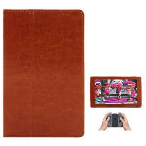 TABLETCOVERS.DK Nintendo Switch Case - Læder Cover Brun
