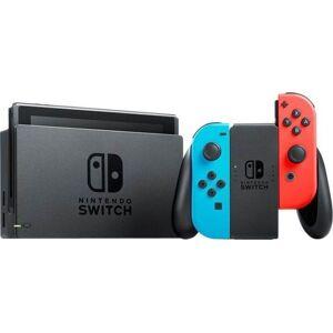 Nintendo Switch Spillekonsol Med Neon Rød Og Neon Blå Joy-con - Opgr. Udgave