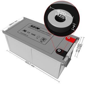 12V 269Ah DJM AGM batteri T11