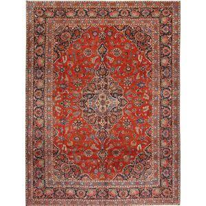 Handknuten. Ursprung: Persia / Iran Keshan Matta 294X392 Mörkröd/Roströd Stor (Ull, Persien/Iran)