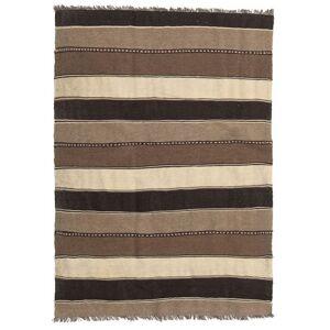 Handknuten. Ursprung: Persia / Iran Persisk Kelim Matta 138X196 Brun/Mörkbrun/Ljusbrun (Ull, Persien/Iran)