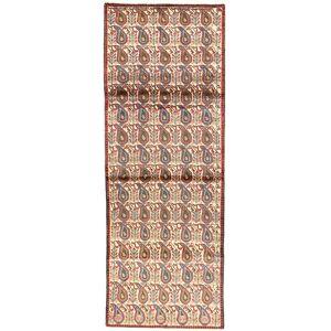 Handknuten. Ursprung: Persia / Iran 85X290 Afshar Matta Äkta Orientalisk Handknuten Hallmatta Beige/Ljusbrun (Ull, Persien/Iran)