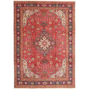 Handknuten. Ursprung: Persia / Iran Tabriz Matta 240X335 Äkta Orientalisk Handknuten Mörkröd/Brun (Ull, Persien/Iran)