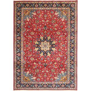 Handknuten. Ursprung: Persia / Iran Orientalisk Mashad Matta 243X335 Roströd/Lila (Ull, Persien/Iran)