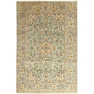 Handknuten. Ursprung: Persia / Iran Keshan Matta 242X366 Äkta Orientalisk Handknuten Beige/Ljusbrun (Ull, Persien/Iran)