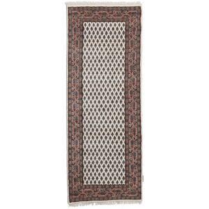 Handknuten. Ursprung: India Mir Indisk Matta 79X299 Äkta Orientalisk Handknuten Hallmatta Ljusbrun/Mörkbrun (Ull, Indien)