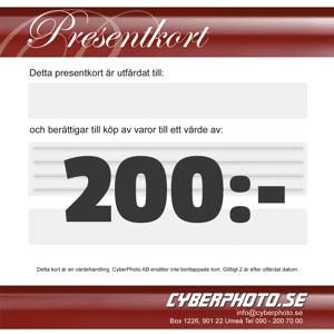 CyberPhoto Presentkort 200kr