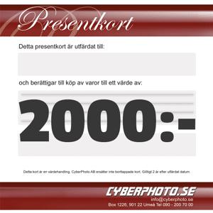 CyberPhoto Presentkort 2000kr