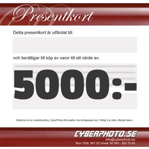 CyberPhoto Presentkort 5000kr