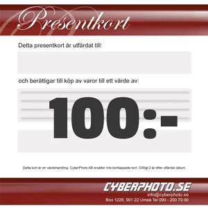 CyberPhoto Presentkort 100kr