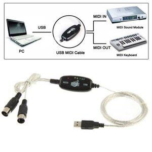 24hshop USB til MIDI Keyboard adapter