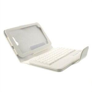 Omnia SkinnEtui Med Bluetooth Tastatur Til Samsung Galaxy Tab 3 Lite - Hvit