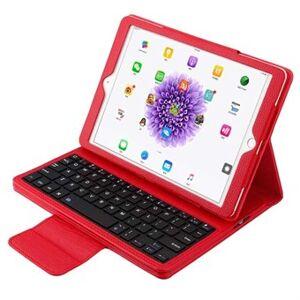Apple PU-läderfodral med Bluetooth-tangentbord och plastfodral för iPad - röd