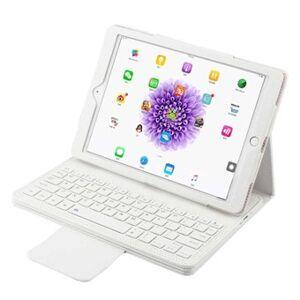 Apple PU-läderfodral med Bluetooth-tangentbord och plastfodral för iPad - vit