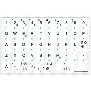 Klistermärken för utländska tangentbord, Nordisk (SE/DK/FI/NO)