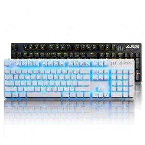 AJAZZ mekaniskt speltangentbord med ljuseffekter - Vit