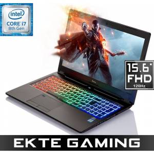 """Multicom Kunshan P950E 15.6"""" Full-HD Matt 120Hz, Intel® Core™ i7-8750H, 16GB, 512GB PCIe SSD, GeForce GTX 1070 8GB Max-Q Design, Uten operativsystem, demobrukt"""