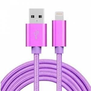 Apple Billige Nylon Lightning Cable Lilla - 3 Meter