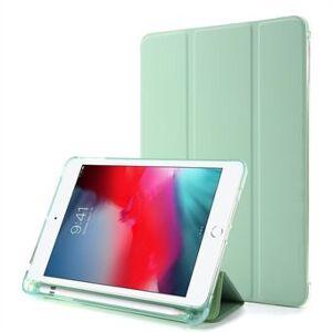 Apple Tri-fold Stand Leather Tablet Shell med penn Spor for iPad mini (2019) 7,9 tommer / iPad mini 4/3/2/1