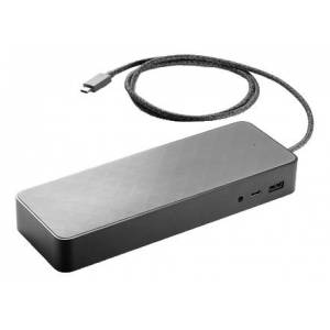 HP 1MK33AA#ABB HP USB-C Universal Dock, 2x DP, 1x USB-C Charging and Data, black
