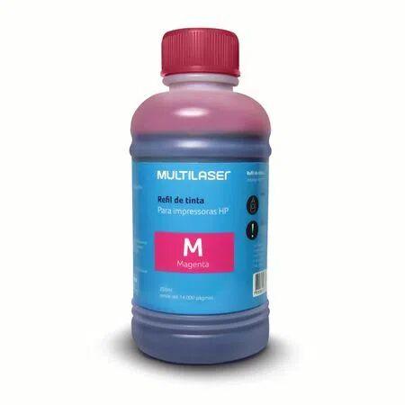 Multilaser Refil de tinta para impressoras 205ml HP Magenta Multilaser - RF011 RF011