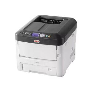 Oki C712n - Skriver - farge - LED - A4 - 1200 x 600 dpi - inntil 36 spm (mono) / inntil 34 spm (farge) - kapasitet: 630 ark - USB 2.0, Gigabit LAN