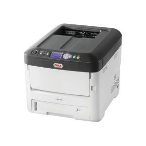 Oki C712dn - Skriver - farge - Dupleks - LED - A4 - 1200 x 600 dpi - inntil 36 spm (mono) / inntil 34 spm (farge) - kapasitet: 630 ark - USB 2.0,