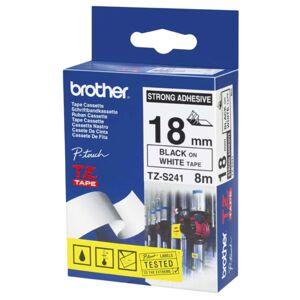 Brother Tape Brother TZES241 18 mm, svart på hvit