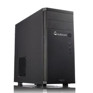 Multicom i312C Kontor / Hjemme PC Intel Core i3-8100, 8GB DDR4, 256GB PCIe SSD, Intel UHD Graphics 630, 450W, Uten operativsystem