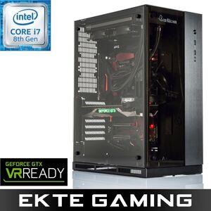 Multicom Drogo i925C Gaming PC Intel Core i7-8700K, 16GB, 500GB PCIe SSD + 3TB HDD, GeForce GTX 1080 8GB, 750W med Microsoft Windows 10 Home Norsk,