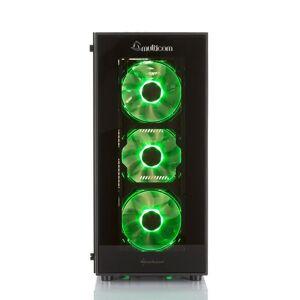 Multicom Noox i626CR RGB Gaming-PC Intel Core i7-9700K, 16GB, 512GB PCIe SSD, 2TB harddisk, GeForce RTX 2070 Super, 600W, Uten operativsystem
