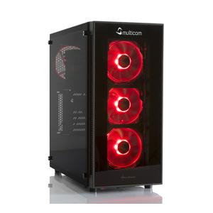 Multicom Noox i612CR RGB Gaming-PC Intel Core i3-9350KF, 16GB, 3TB HDD,GeForce GTX 1650 4GB, 450W, Uten operativsystem, demobrukt