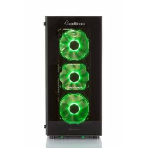 Multicom Noox i613CR RGB Gaming-PC Intel Core i5-9400F, 16GB, 512GB PCIe SSD,GeForce GTX 1660 6GB, 450W, Uten operativsystem