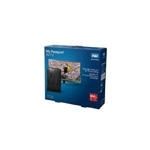 Western Digital WD My Passport AV-TV WDBHDK5000ABK - Harddisk - 500 GB - ekstern (bærbar) - USB 3.0 - sort