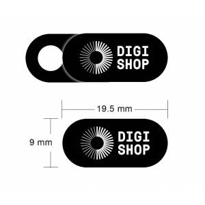 Digishop Yksityisyyssuoja kannettavan tietokoneen / tabletin kameralle - Musta