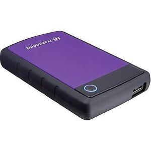 Transcend StoreJet 25t 3 2.5 ekstern harddisk drive 2 TB lilla USB 3.0
