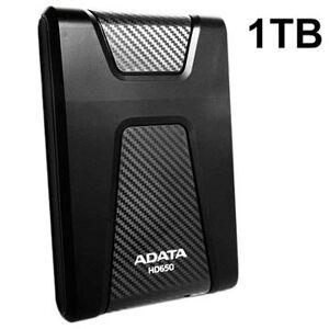 Adata HD650 USB 3.1 Ekstern Harddisk - 1TB - Svart