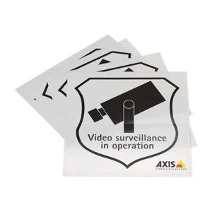 Axis Surveillance Sticker - Etiketter (en pakke 50)
