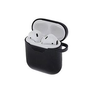 Apple Silikone etui til Apple AirPods (1/2) Sort - Deltaco