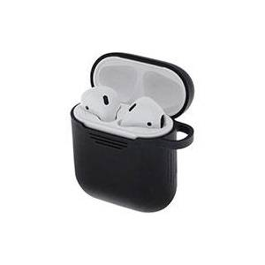 Apple Silikone etui til Apple AirPods (1/2) Sort - Deltaco