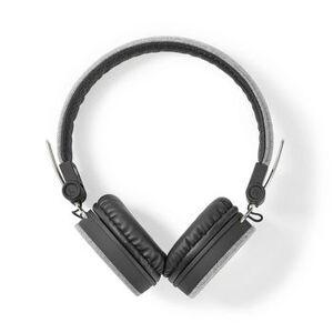 NEDIS, On-Ear Wired hovedtelefoner   3.5 mm   Kabellængde: 1.20 m   Sort/Grå