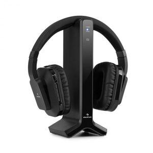 Auna Silencium radiokuulokkeet 20 m 2,4 GHz TV/hifi/CD/MP3 akku musta