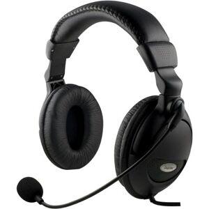 Deltaco Headset Suurilla Kuulokkeilla Ja äänensäädöllä, 2m Kaape