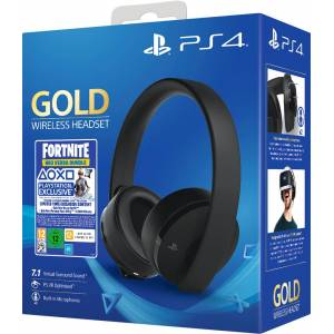 Sony Gold Wireless Headset PS4 Fortnite Neo Versa Bundle