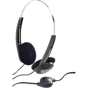 Basetech CD-1000VR på-øret hodetelefoner on-Ear volumkontroll, nedtonet hodebånd svart