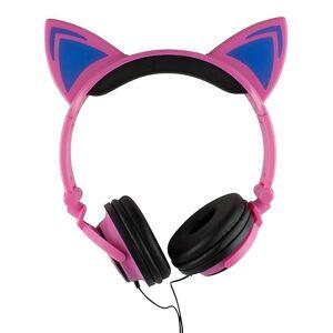 eStore LED-hodetelefoner med Katte ører-rosa og svart
