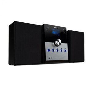 Auna MC-30 DAB stereolaitteisto DAB+ bluetooth kaukosäädin 20W max. hopeanvärinen