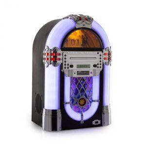 Auna Kentucky jukebox, BT, FM-radio, USB, SD, MP3, CD-soitin, valkoinen