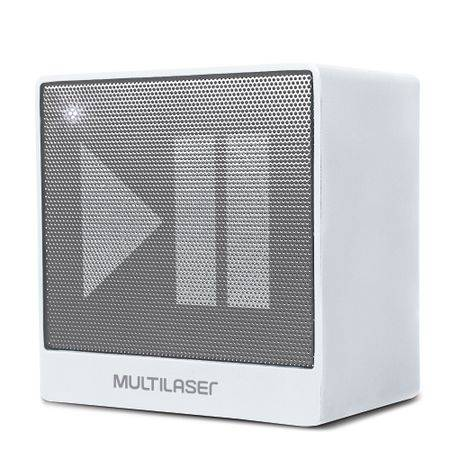 Multilaser Caixa de Som Mini Aux. 8W Bluetooth Branca Multilaser - SP278 SP278